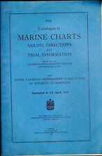 Catalogue of Marine Charts Sailing Directions & Total Information 1931