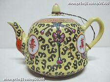 Collect original GuangXu dynasty Wucai porcelain tea pot Sets Kettle Flagon