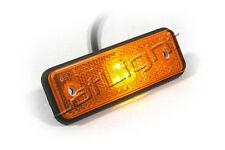 4 Stück LED Seitenmarkierungsleuchten mit Rückstrahler Anhänger LKW 12 24 Volt