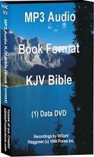 MP3 Bible on 1 DVD disk Book files KJV Audio Bible