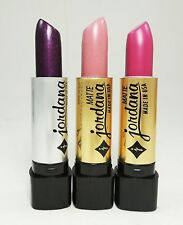 3 PCs Jordana Lipstick - Purple, Lavender, Plum Color Lipsticks - Made in USA