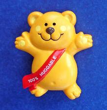 Russ Pin Valentines Vintage Bear Teddy 100% Huggable Holiday Brooch