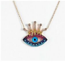 Strling Silver 925 Fancy Eye Necklace