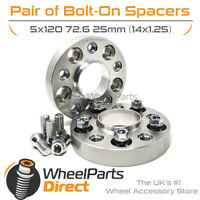 5x120 72.6 25mm GEN2 Bolt-On Wheel Spacers for BMW 4 Series Gran Coupe 14-20