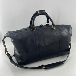 Vintage Ghurka  Cavalier II No.97 Duffle bag Black Leather
