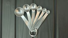 USA New 6pc Stainless Steel Measuring Spoon Kitchen Baking Cooking Cups Tool Set