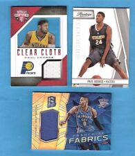 RUSSELL WESTBROOK REFRACTOR JERSEY & PAUL GEORGE GAME USED + ROOKIE CARD THUNDER