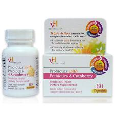 VH ESSENTIALS Probiotics w/ Prebiotics & Cranberry Feminine Health - 60 Capsules
