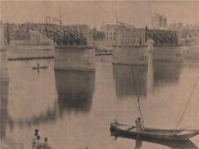 PARIS COMMUNE 1871. Pont d'Asnières. Hauts-de-Seine c1873 old antique print