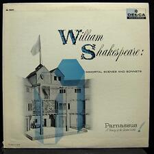 PARNASSUS SHAKESPEARE immortal scenes & sonnets LP Mint- DL 9041 Mono