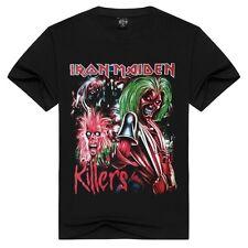 SIZE L!!!! Fashion Iron Maiden  Men's 3D Print Short Sleeve T-Shirt 100% Cotton