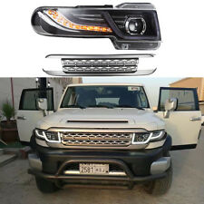 LED 2007-2015 For Toyota FJ Cruiser Led Projector Headlight With Grille Assembly