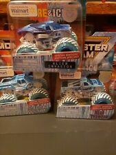 Spin Master Monster Jam Soldier Fortune Alien invasion Blue Thunder LOT OF 3