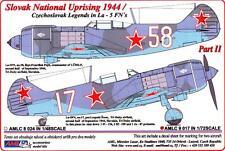 AML Models Decals 1/72 SLOVAK NATIONAL UPRISING Czech La-5FN Fighters Part 2