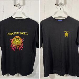 Vintage Cirque Du Soleil T Shirt Medium Black