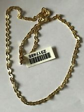 BNWT STERLING SILVER ITALIAN YELLOW GOLD VERMEIL DIAMOND CUT  NECKLACE YASH567