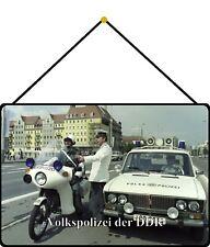 Volkspolizei der DDR Blechschild Schild mit Kordel Tin Sign 20 x 30 cm FS1129-K