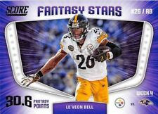 Two Card Lot 2018 Score Football Le'veon Bell Fantasy Stars Pittsburgh Steelers