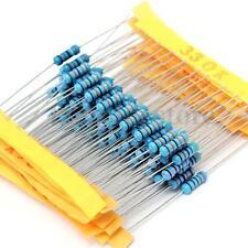 Valor 1100 un. 110 1/2W +/-1% 0.1 Ohm ~ 10M Ohm Resistor de película metálica Caja Kit