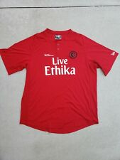 Ethica Button Up T shirt Sz XL Red