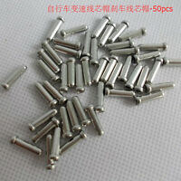 Bicycle Ends Caps Crimps Ferrules Bike Shifter Brake Gear Inner Cable Tips 100 X