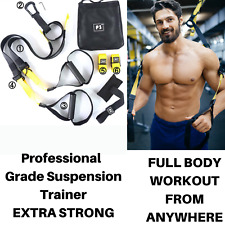 TRX Style Home Suspension Trainer Fitness Straps Gym Resistance Band Training UK