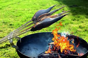 MULTI HALTER LEO sehr stabil  9mm Steckerlfisch Flammlachs Feuerschale Grill