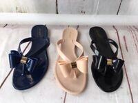 Denver, Beach Summer Jelly Sandal  Bow Tie Flip Flop by Ann More