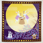 Japanese wrapping cloth FUROSHIKI -Mochitsuki usagi (Rabbits&Moon) /tapestry/obi