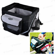 Bicycle Bike Front Box Carrier Basket For Pet Dog Doggie Cat Outdoor Travel UK