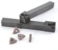 12*12mm left + right holder +16ER AG60-S Carbide Inserts threading turning tools