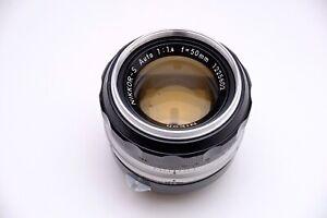 Nikon Nikkor-S Auto 50mm f/1.4 pre-Ai manual focus Prime Lens.