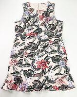Tokito Women's 16 Pink Floral Leaf Stretch Sleeveless Knee Length Sheath Dress