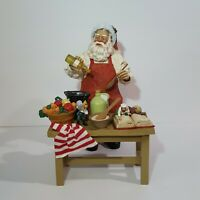 RARE Clothtique Possible Dreams A Pinch of Cheer Santa Claus Cooking Browning