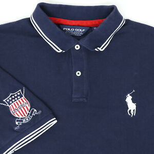 "Polo Golf Ralph Lauren Men XL 48"" 2011 US Open Polo Shirt Blue Pony Cotton"