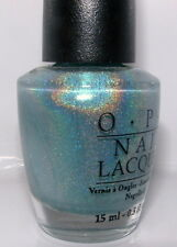 Opi Blue Moon Lagoon Nl S34 Nail Polish Black Label Discontinued Holographic