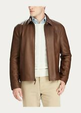 POLO RALPH LAUREN Lambskin Leather Jacket - Brown - L