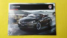 Vauxhall Cascada Cabriolet Elite SE Convertible brochure August 2016 MINT Opel