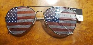 Wholesale Lot---Men's  American Flag Aviator Sunglasses 100 Pair Sale Price $99