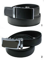 Gürtel Herren Echt Leder Automatik 110-130 cm schwarz Ledergürtel, neu