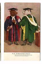 Vintage Postcard Roosevelt Bears At Harvard Anthropomorphic Dressed graduation