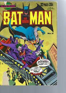 BATMAN AND ROBIN  8 - JOKER STORY  - ALL COLOR -   AUSTRALIAN PLANET COMICS
