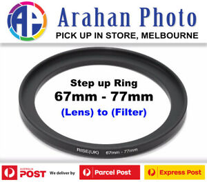Step Up Ring 67-77mm  67mm Lens to 77mm filter