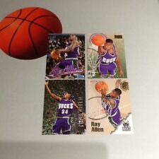 Ray Allen 4-card Rookie Lot NBA Basketball Trading Cards - All-Star/Future HOF