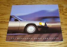 Original 1991 Mercedes Benz 190 Class Deluxe Sales Brochure 91 E 2.3 2.6 Sedan