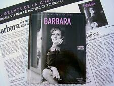 Les géants de la chanson - Barbara - Livre + CD + poster fac-similé