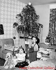 Little Boy Smoking a Pipe- 1950s - Vintage Christmas Photo Print
