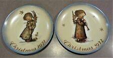 Set Of Antique Hummel Christmas Angel Plates Collector 1971, 1972 Old World