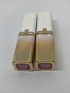 2~L'oreal Age Perfect Satin Lipstick w Precious Oils Vibrant Fuchsia #206