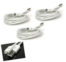 3X 6FT MICRO USB DATA SYNC CHARGER CABLE WHITE FOR GALAXY S3 NOTE LTE NEXUS